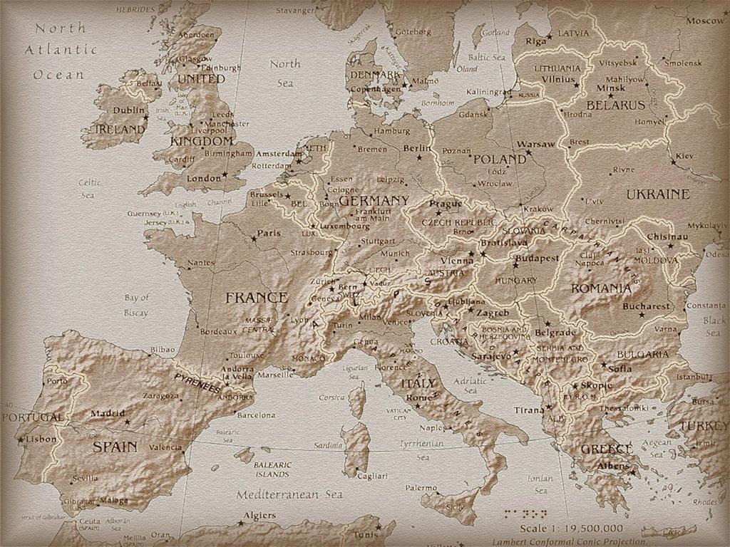 Европы все страны европы на карте