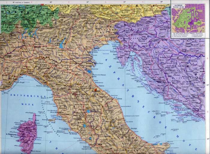 Италия карта италии подробная карта