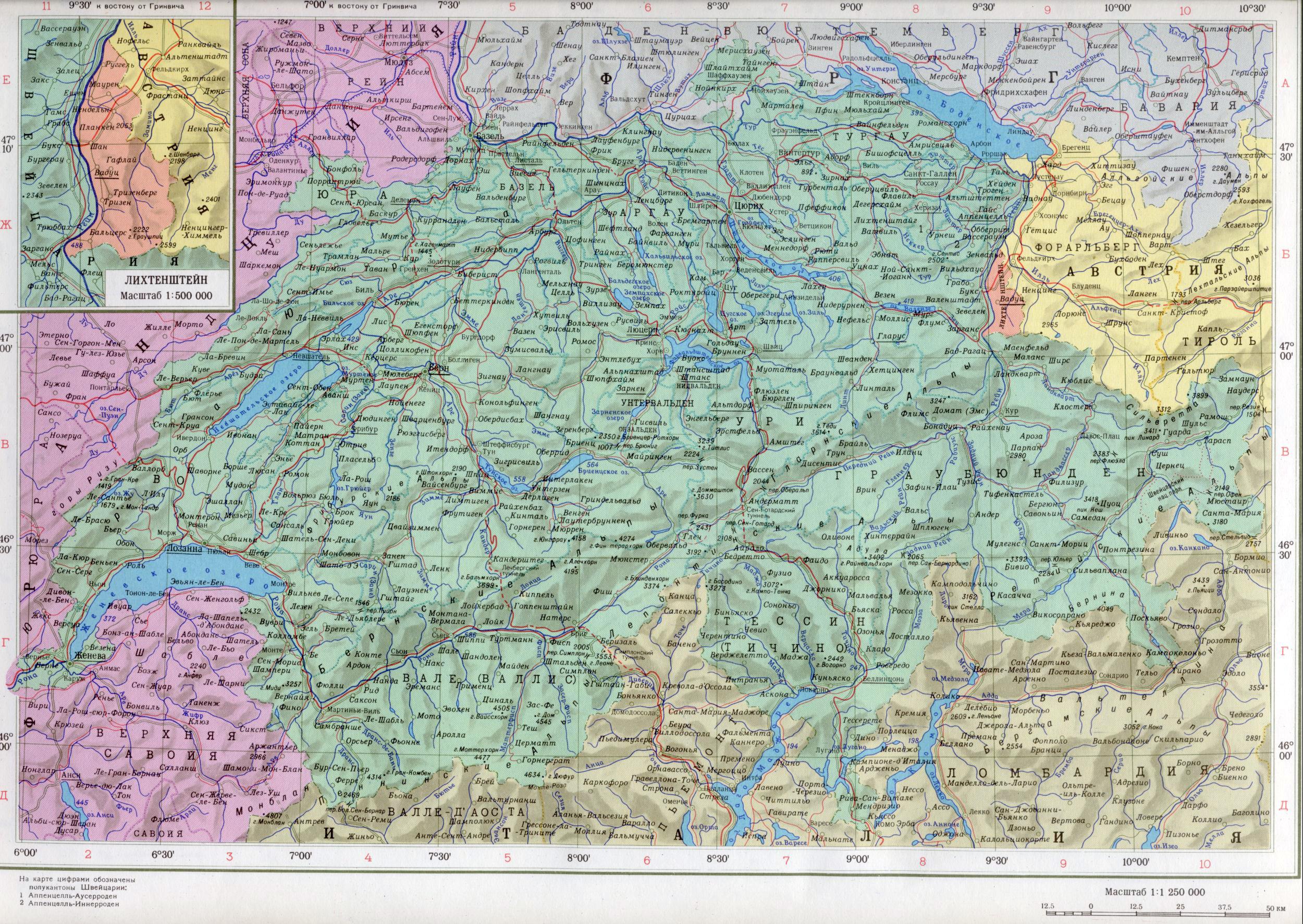 Mio Карты Европы