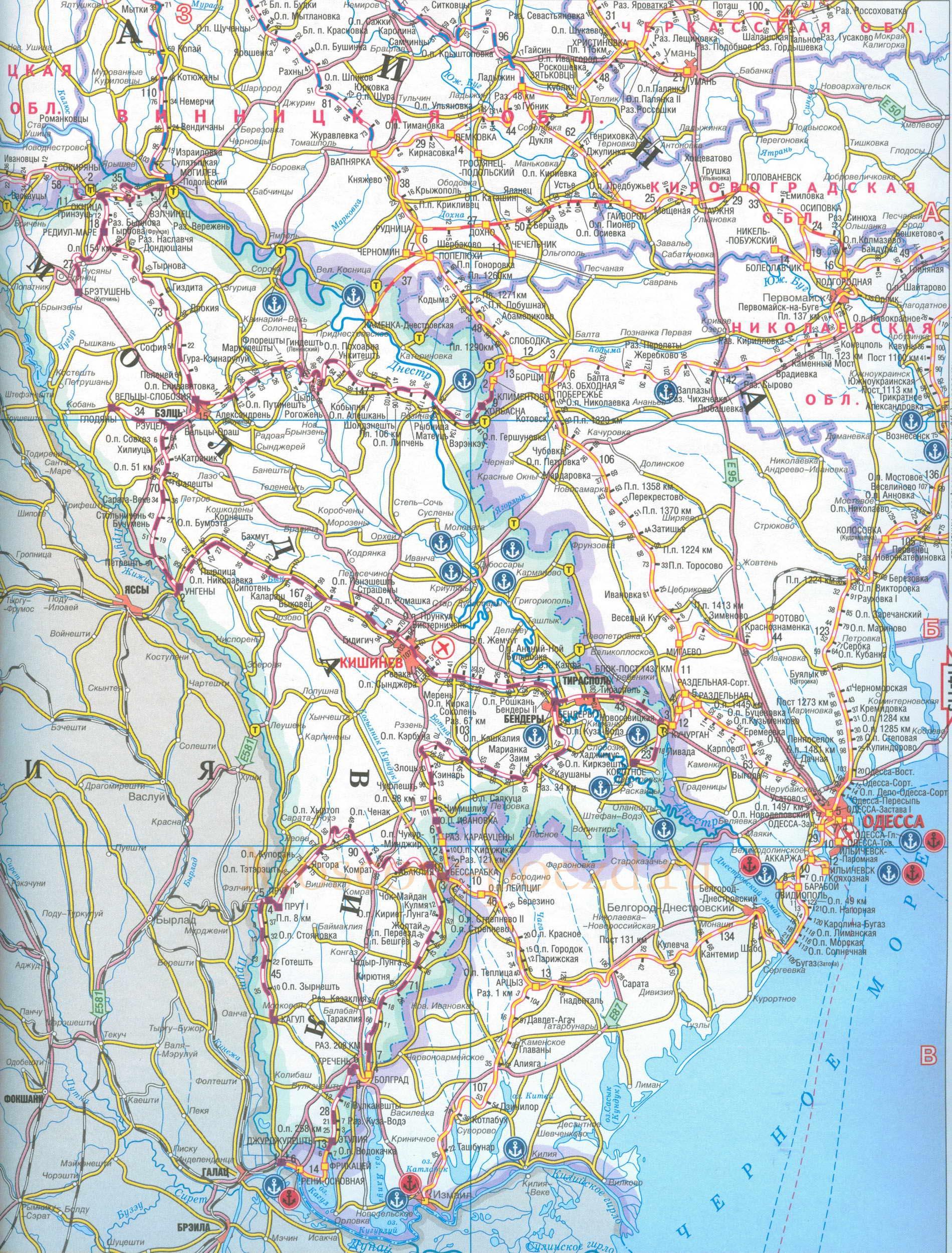 Масштаба 1см 16км подробная карта