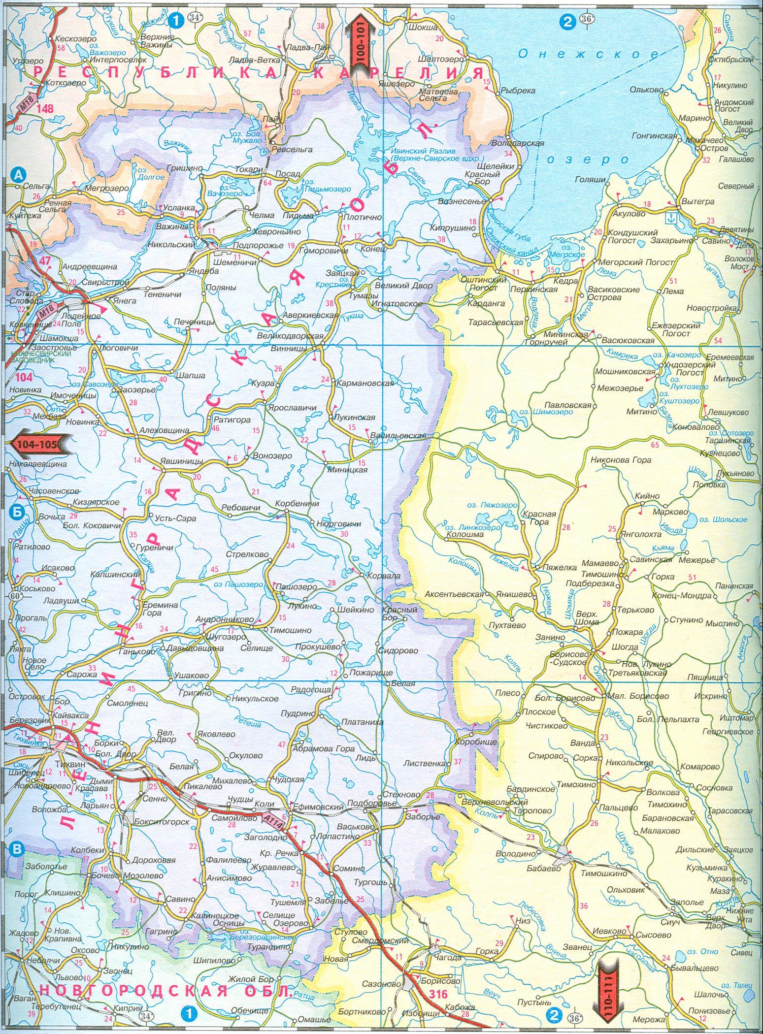 — подробная карта масштаба 1см 11км