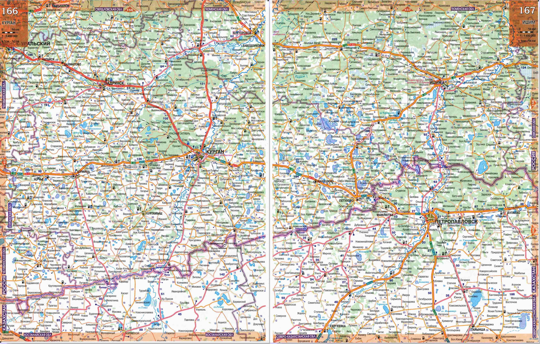 Большая подробная карта Свердловской области и соседних регионов.  Бесплатно скачать подробную карту автомобильных...
