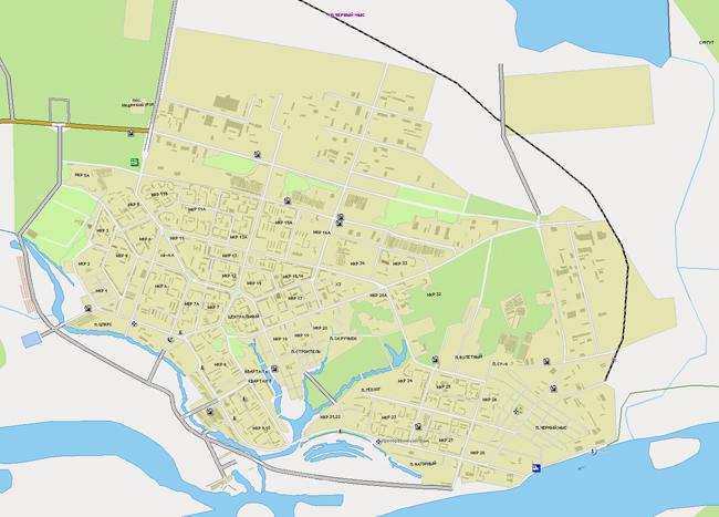 Бесплатно скачать подробную карту города Спрут все районы и