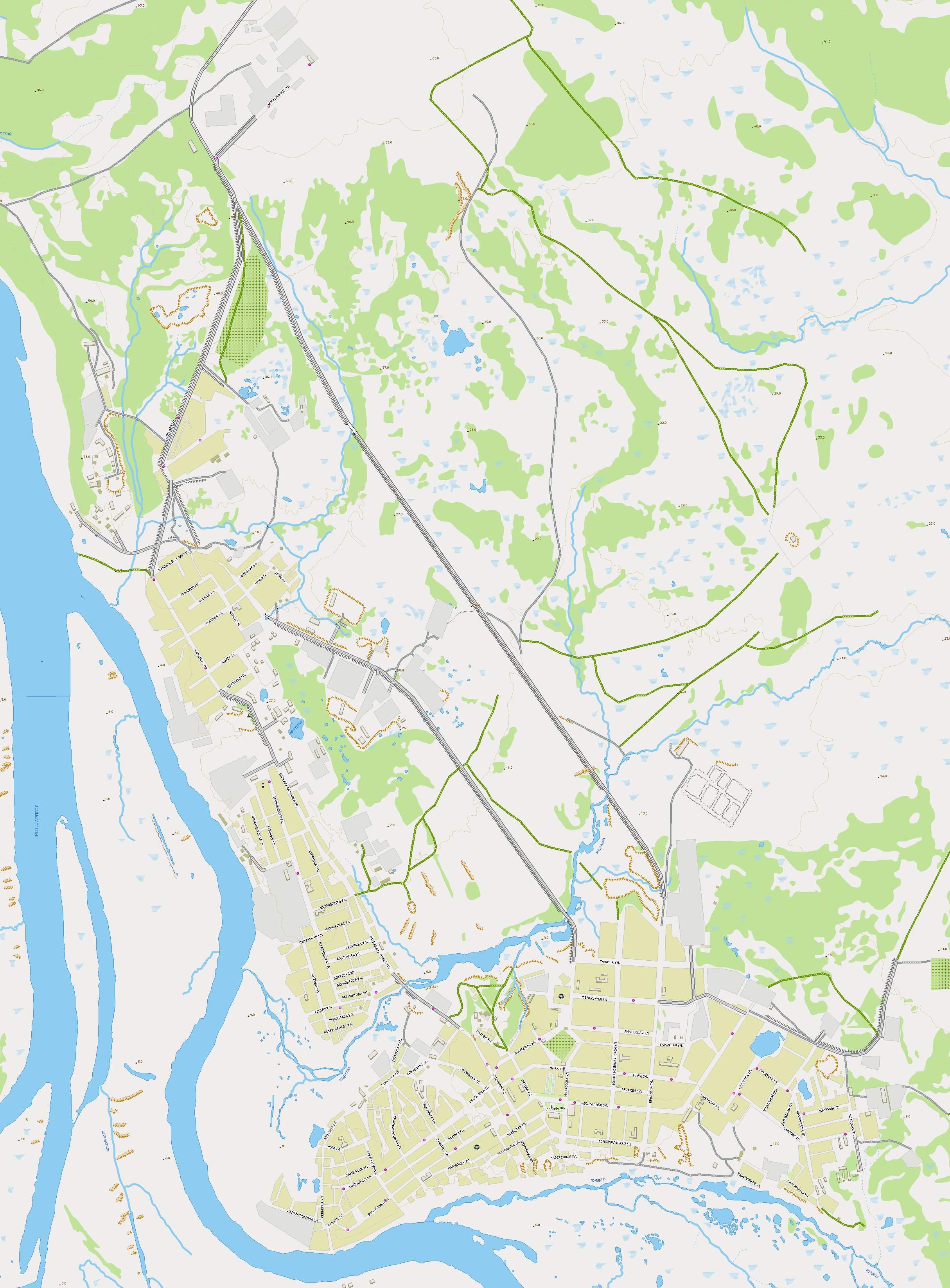 Масштаба 1см 100м подробная карта