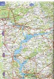 Карта республики Удмуртия.  Подробная карта Удмуртии из атласа автомобильных дорог России.