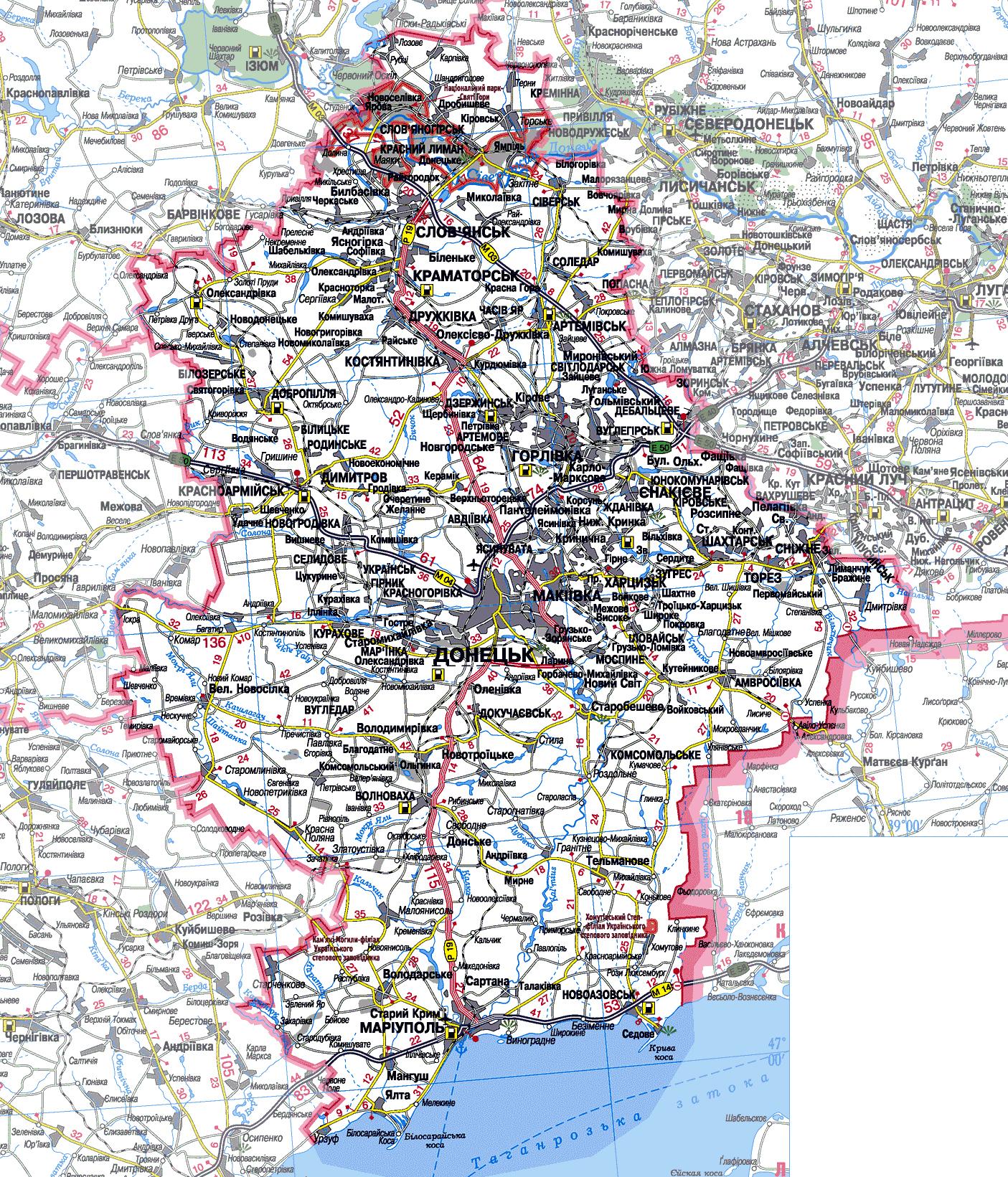 Карта Донецкой Области Nm2