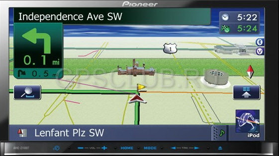 Pioneer avic-s2 portable gps navigation (mp3, color lcd 35, sd, usb, bluetooth hands-free, li-ion)