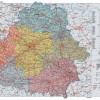 Подробные карты автомобильных дорог Белоруссии (атлас автомобильных дорог), административные карты, все города и бласти.