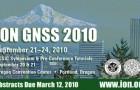 Рефераты докладов ION GNSS 2010 будут представлены к 12 марта.