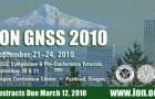 Программа конференции Института Навигации GNSS (GNSS ION) 2010