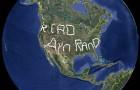 Самую большую надпись можно увидеть при помощи Google Earth